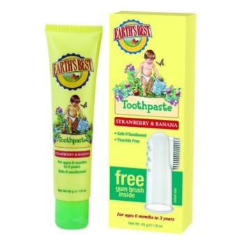 Zubná pasta pre deti od 6 mesiacov so zubnou kefkou