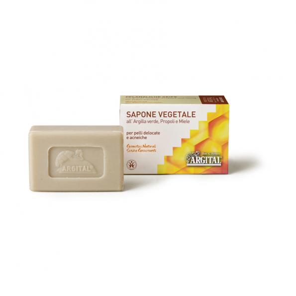 Rastlinné mydlo so zeleným ílom, propolisom a medom