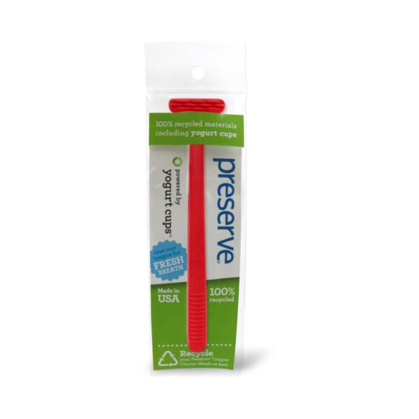 Recyklovateľná škrabka na jazyk – červená