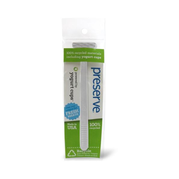 Recyklovateľná škrabka na jazyk – biela