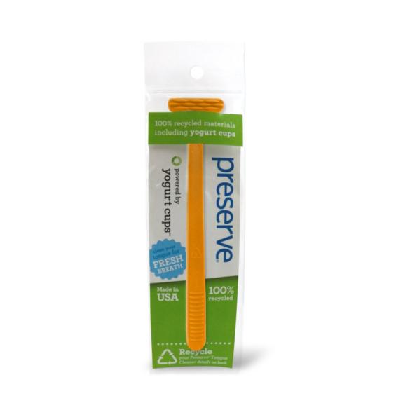 Recyklovateľná škrabka na jazyk – oranžová