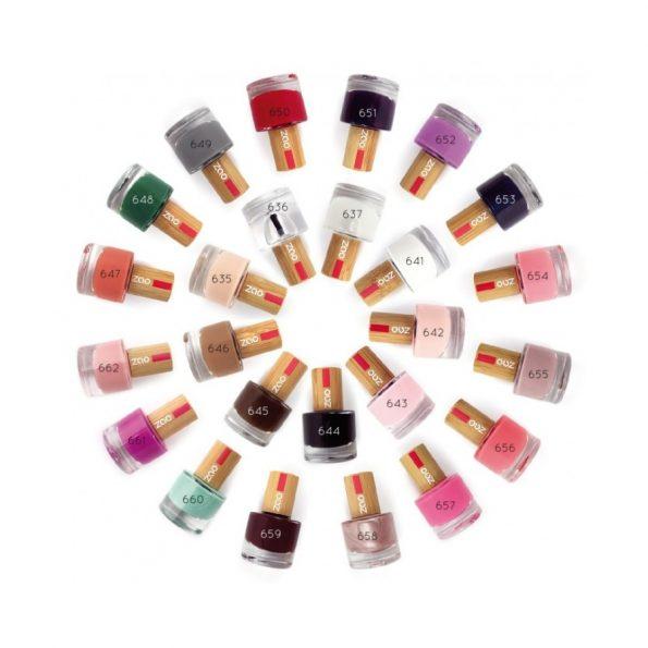 Lak na nechty 654 Hot pink, prírodné laky na nechty, prírodné farby, trendy farby, nude odtiene, vegan laky, na nechty, vegánska kozmetika, cruelty free kozmetika, gluten free kozmetika, bio, eko, vegan. organila, zao, zao make-up
